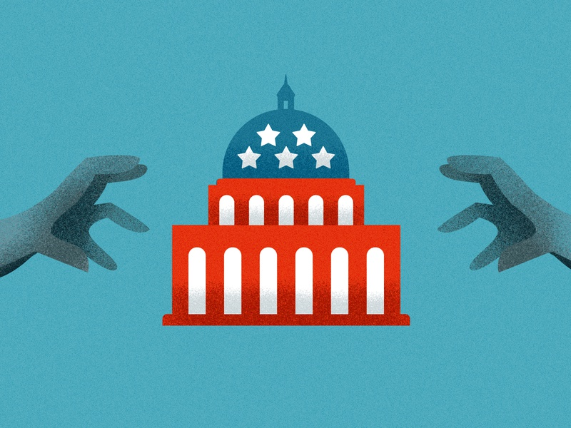 Lobbying in the United States government united states illustration art lobbying illustraion