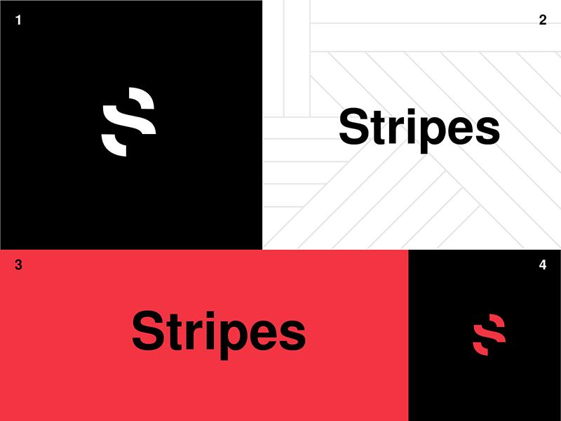 Stripes Branding typography helvetica agency logotype mark pattern minimal swiss marketing logo branding