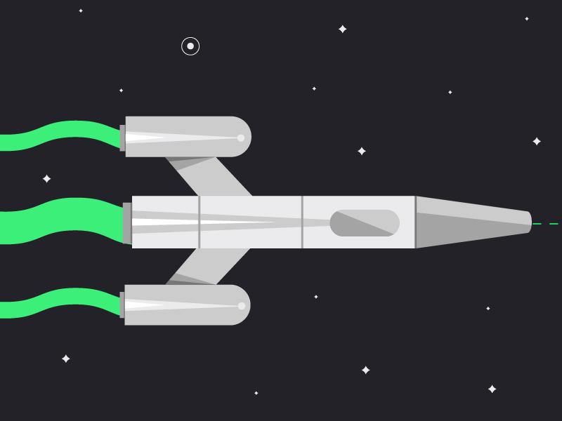 Starship illustration ufo chrome rocket outer fi sci future spaceship stars space