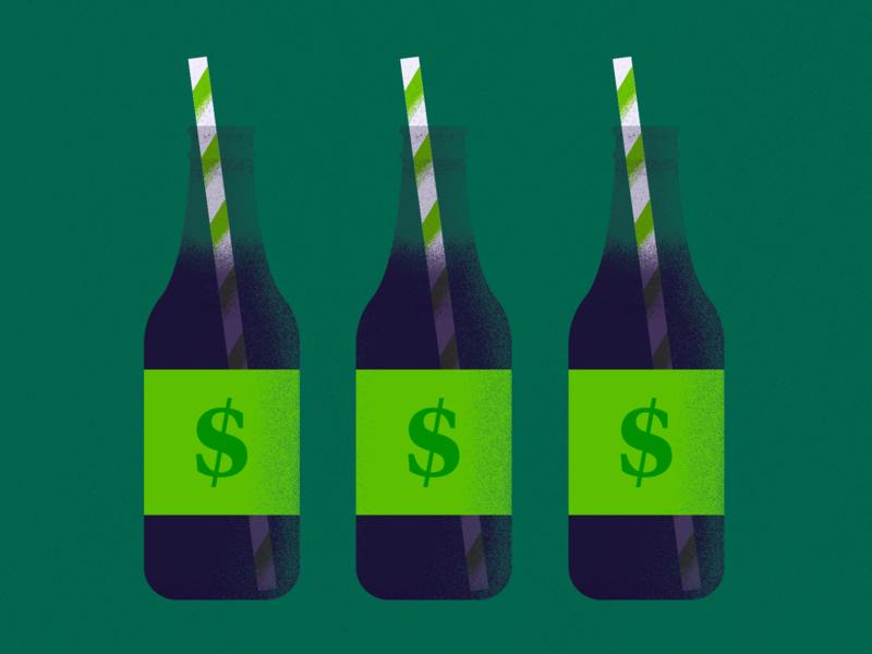 Soda Tax texture america business flat minimal design vector illustration tax soda