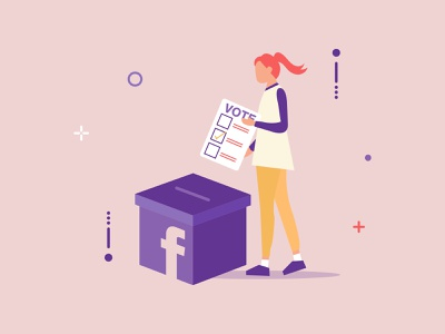 Vote 2020 girl design adobeillustator illustration election facebook