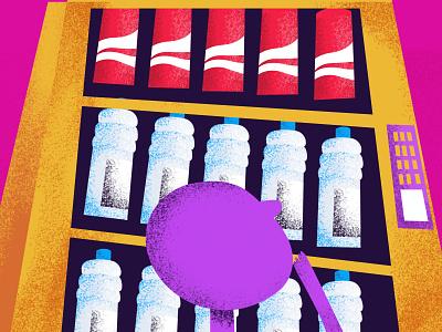 Water or Coke graphic nutrition kids illustrator dilemma soda coke water