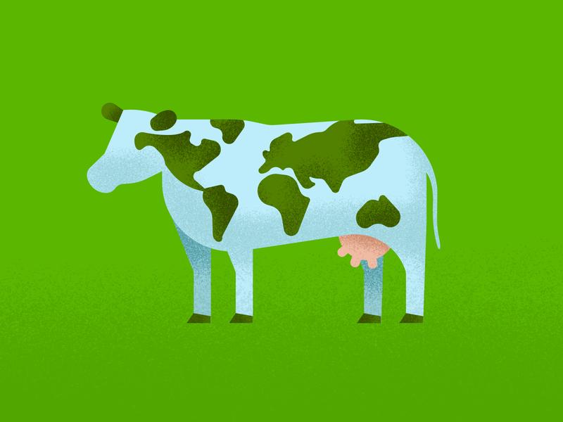 Beef Sustainability art vector illustrations graphic design beef production climate change enviroment ecofarm illustration