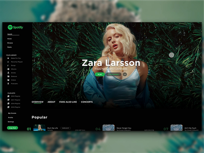 Spotify Redesign Concept   Daily UI 05