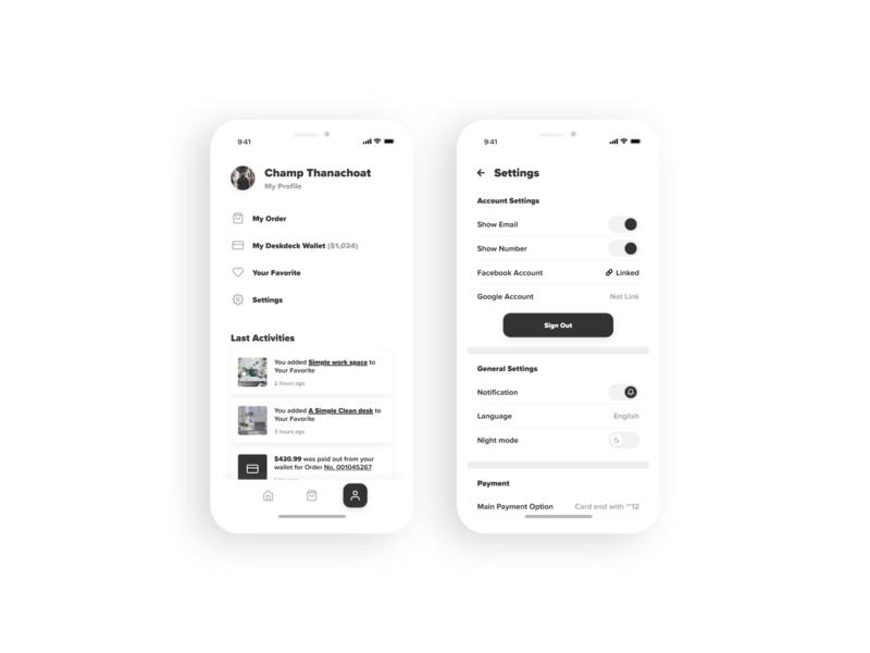 Settings - Daily UI #007 app screen 100daychallenge setting settings settings page settings ui app settings app design app ui design ui daily ui dailyuichallenge dailyui