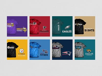 NFL Logo & Shirt Designs design branding artwork sports logo design merchandise design swag football nfl