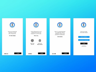 1Password Rebranding Concept branding app designer user interface app design ux  ui ux