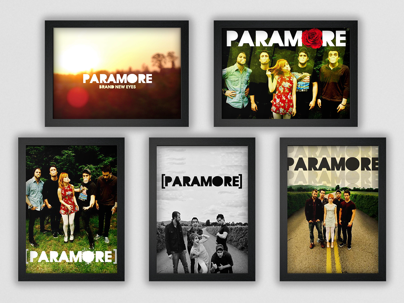 """Paramore """"Brand New Eyes"""" Posters print band photoshop branding music art music poster art poster paramore"""