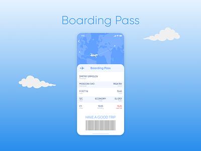 Boarding Pass illustration daily ui dailyuichallenge daily 100 challenge design concept ui