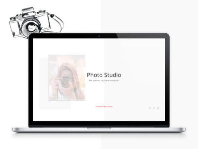 LANDING PAGE: Photo studio on Tilda platform
