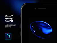 iPhone7 Mockup Free PSD