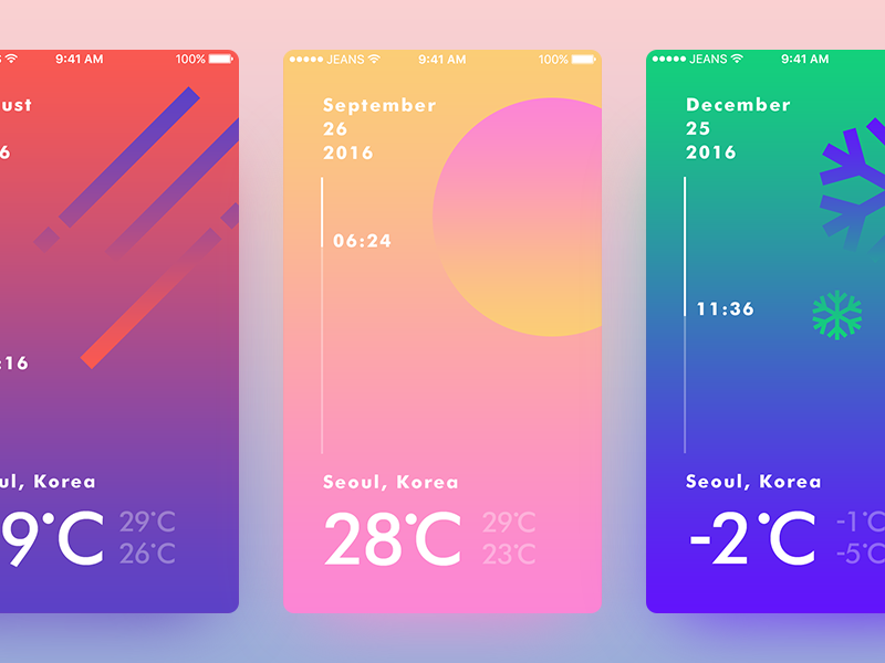 Weather UI Concept concept ui weather