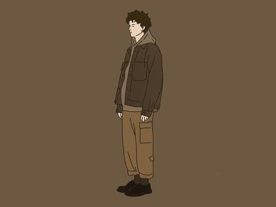 Man Illustration brown man illustration
