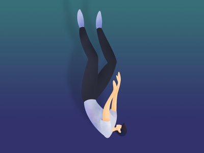 Keep falling falling keep man illustration