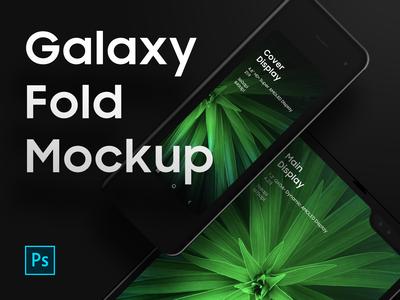 Galaxy Fold Mockup PSD - Freebies