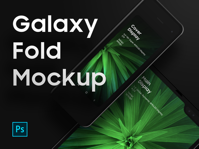 Galaxy Fold Mockup PSD - Freebies device mockup device psd mockup galaxy fold foldable fold galaxy
