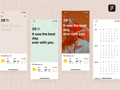 Weather Diary download simple diary weather freebie figma