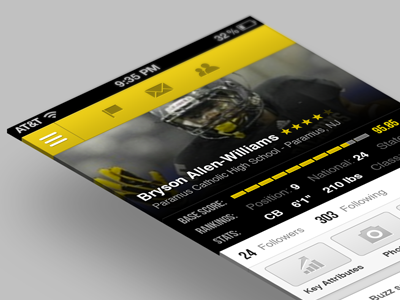 Redefined iOS app for SigningDay ios apple football player sports redefined american