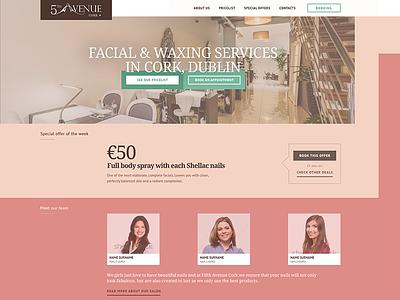 5th Avenue - website redesign flat vintage nail beauty salon cork waxing