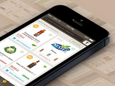 PriceOn iOS application price comparison application ios shopping feed