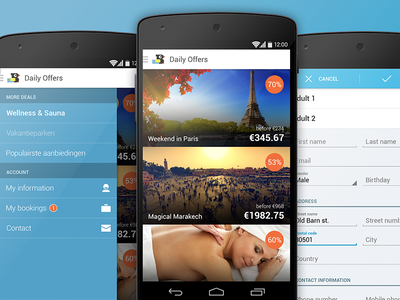 TravelBird Android app travel daily offers android bird booking holiday vacation spa flights