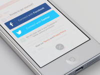 Simple iOS login form with Facebook & Twitter
