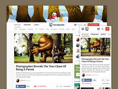 Redefining BoredPanda responsive website navigation boredpanda panda responsive web viral story