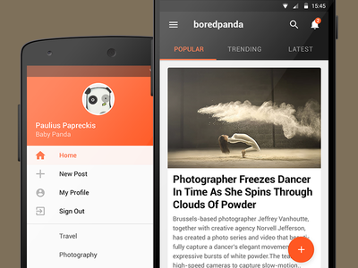 Boredpanda Android app navigation concept boredpanda android material design navigation nexus