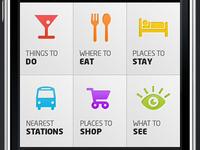 iPhone app categories design.