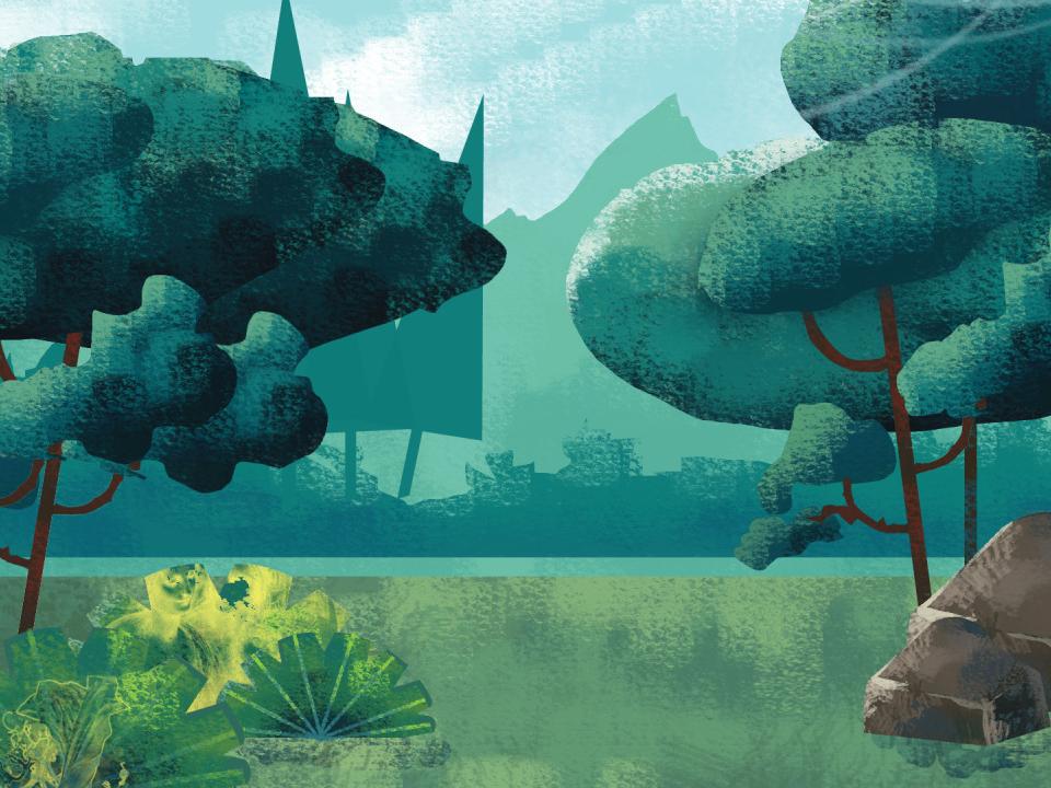 Park blue sky 2d art branding designer river clean animation 2d 2d explainer animation explainer video animation tree art background design nature graphic flat vector illustration