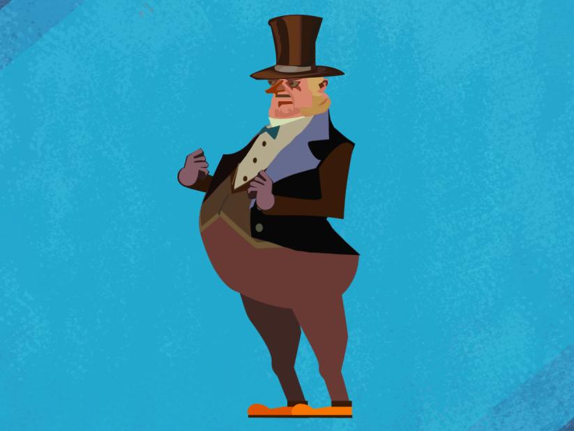 Mayor 2d art 2d artist funny genteman aristocrat mayor art animation 2d explainer animation 2d character fun people graphic design animation branding vector flat illustration