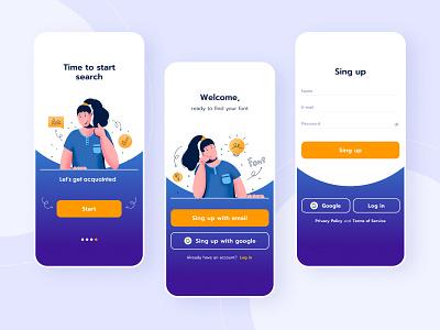 Sign Up app web portfolio debut dribbble tex mobile ux vector ui illustration popular graphic design design art dailyui
