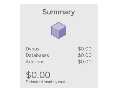 Heroku Pricing Summary