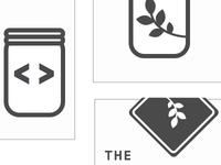 Simplified brand idea for The Mason Jar