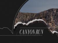 Canyon Run, with wallpaper