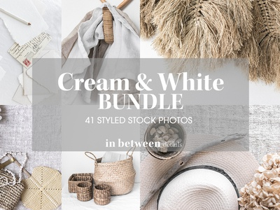 Styled Stock Photo Collection - Cream and White