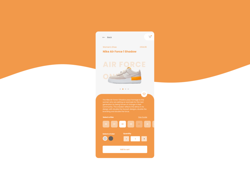 DailyUI#12  E-Commerce Shop (Single Item)