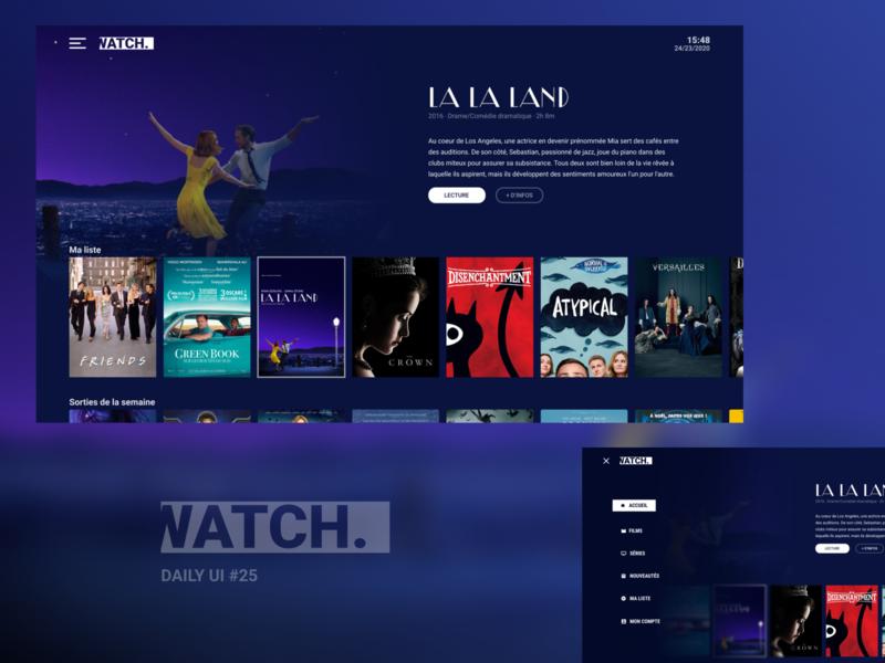 DailyUI#25 TV App