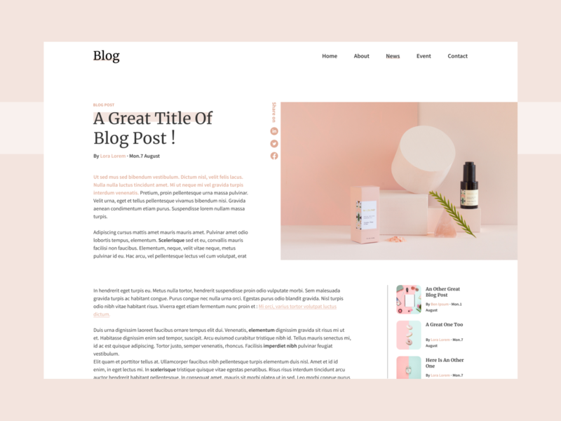 DailyUI#35 Blog Post