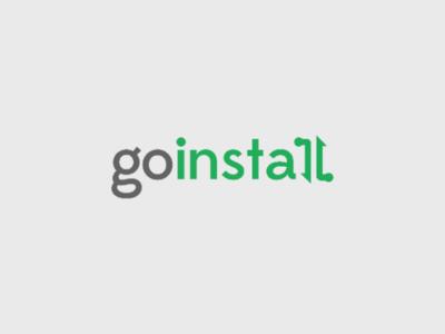 Go install logo design