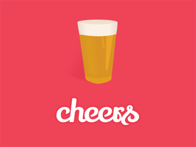 Dribbble Thanks beer pint cheers thank you thanks