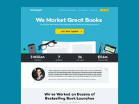 BookPop Landing Page Design