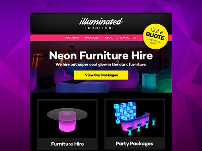 Landing page design landing page web design one page neon