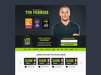 Tim Ferriss Web Design