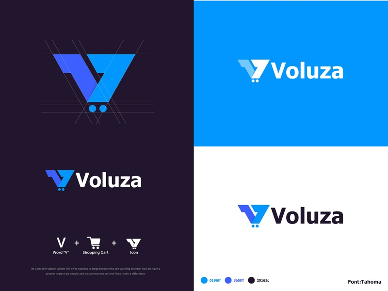 Voluza Logo | Approved creative logos ecommcerce logo creative logo design cart logo shopping logo creative logo 3d logos 3d 3d logo design 3d logo vector logo design adobe illustrator creative branding