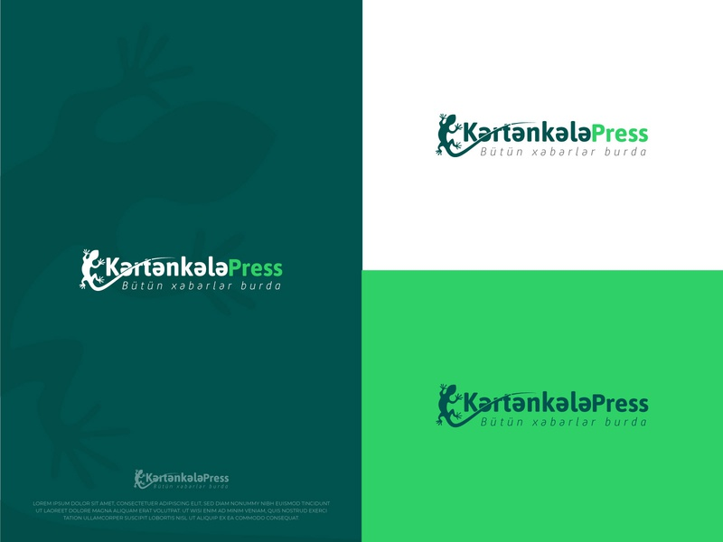 KartanKala Press Logo lizard green logo vector logo design branding illustration typography 3d logo adobe illustrator creative