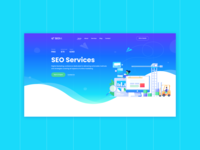 SEOM - SEO Services UI design