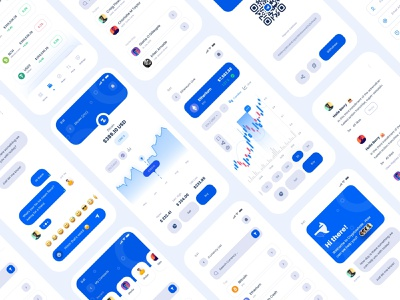 Cryptocurrency App I Crypto whale UI Kit (light mode) whale graphic design exchange bitcoin wallet app cryptocurrency app app ui kit crypto design ui vector minimal ux