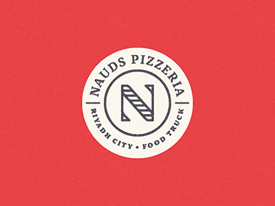 Nauds symbol mark n handmade truck food logo pizza