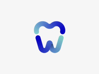 Cosmetic Dentistry w typography identity personal logo cosmetic colors symbol mark teeth tooth dentist